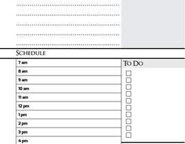 kh1604 tarafından Design a Daily Planner için no 1