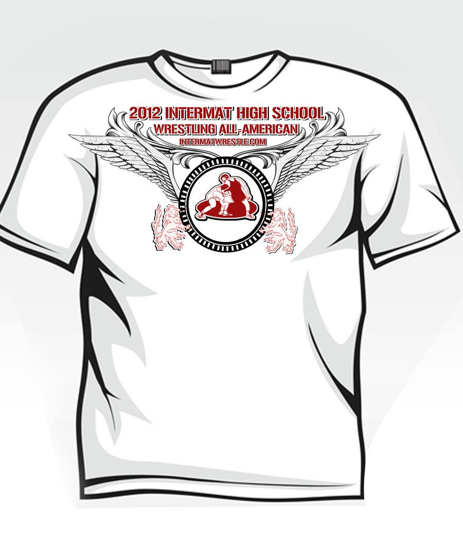 Конкурсная заявка №7 для T-shirt Design for InterMatWrestle.com