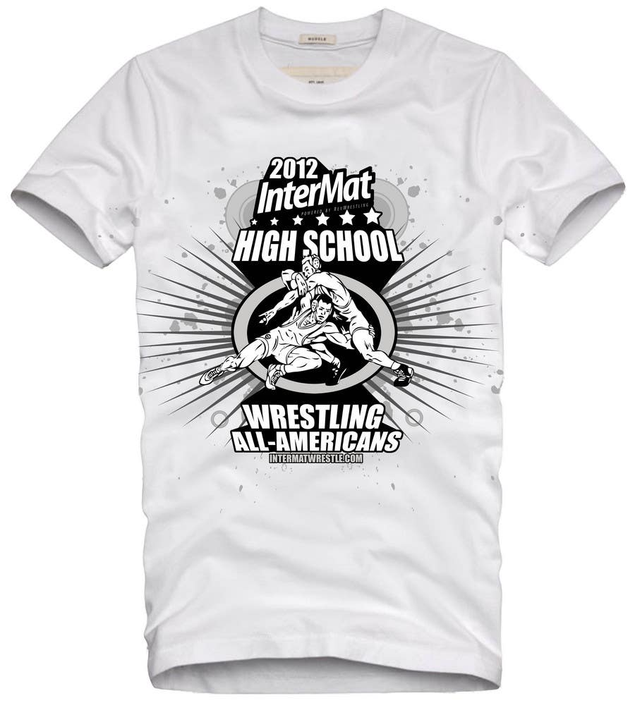 Конкурсная заявка №24 для T-shirt Design for InterMatWrestle.com