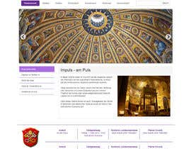 nº 36 pour Responsive webpage design for an exsiting layout (romain catholic church) par SuciuBogdan