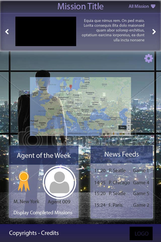 """#18 for Design a mockup of web-based game with a """"secret agent"""" theme by lauranl"""
