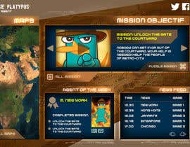 "nº 9 pour Design a mockup of web-based game with a ""secret agent"" theme par enshano"
