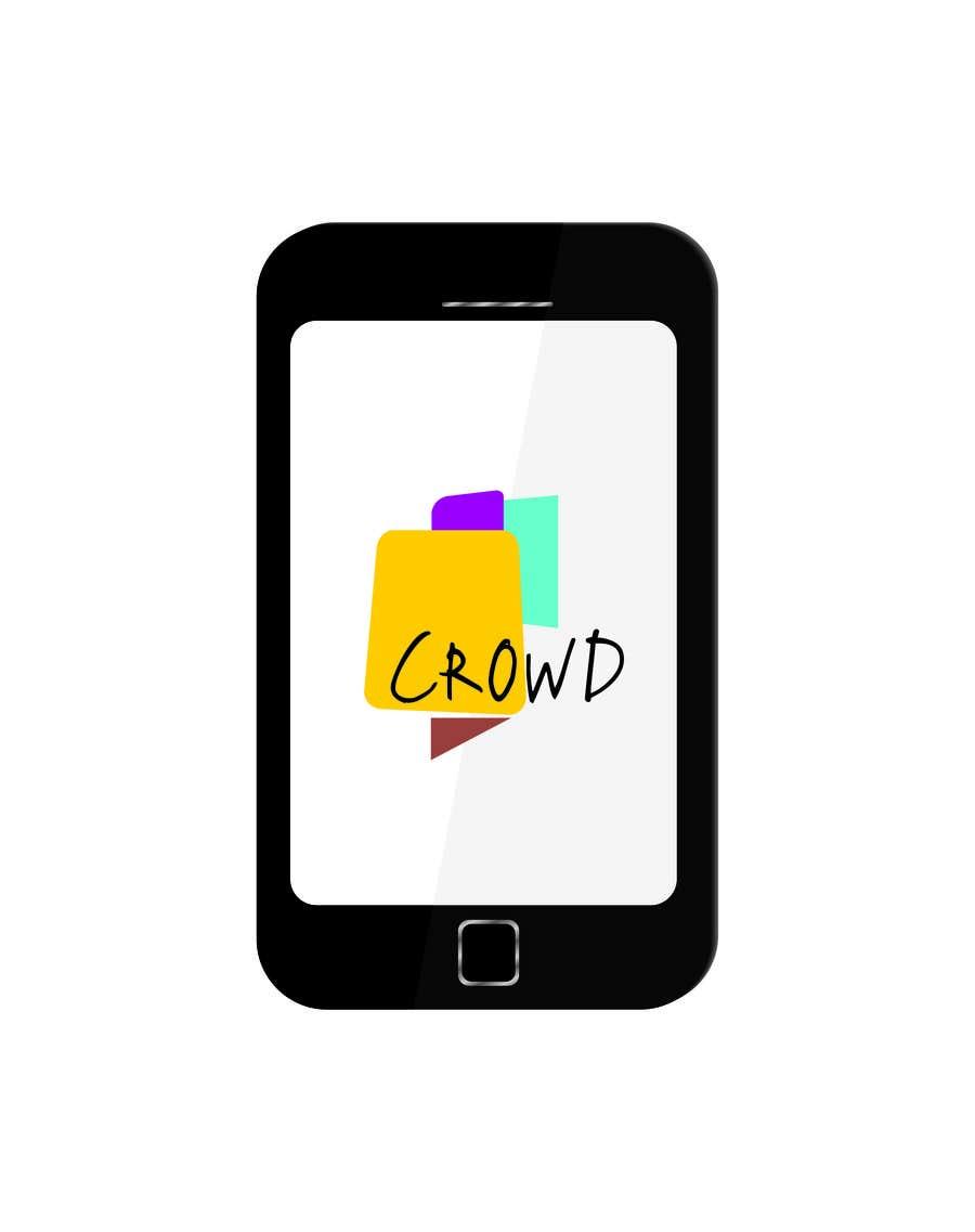 Kilpailutyö #20 kilpailussa Design a Logo for a new App called Crowd