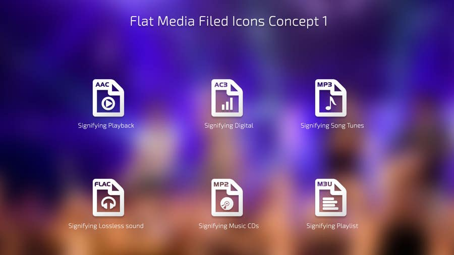 #5 for Design modern icons for media file types by eleopardstudios