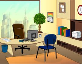 nº 4 pour Cartoon office background par Stanislava21