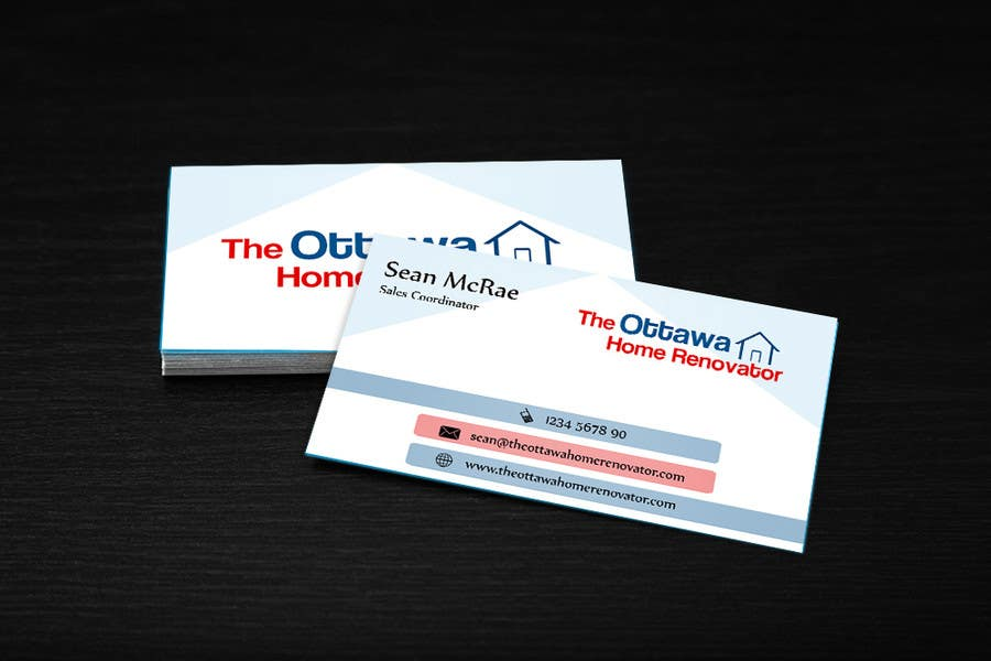 #28 for Design some Business Cards for The Ottawa Home Renovator by cdinesh008