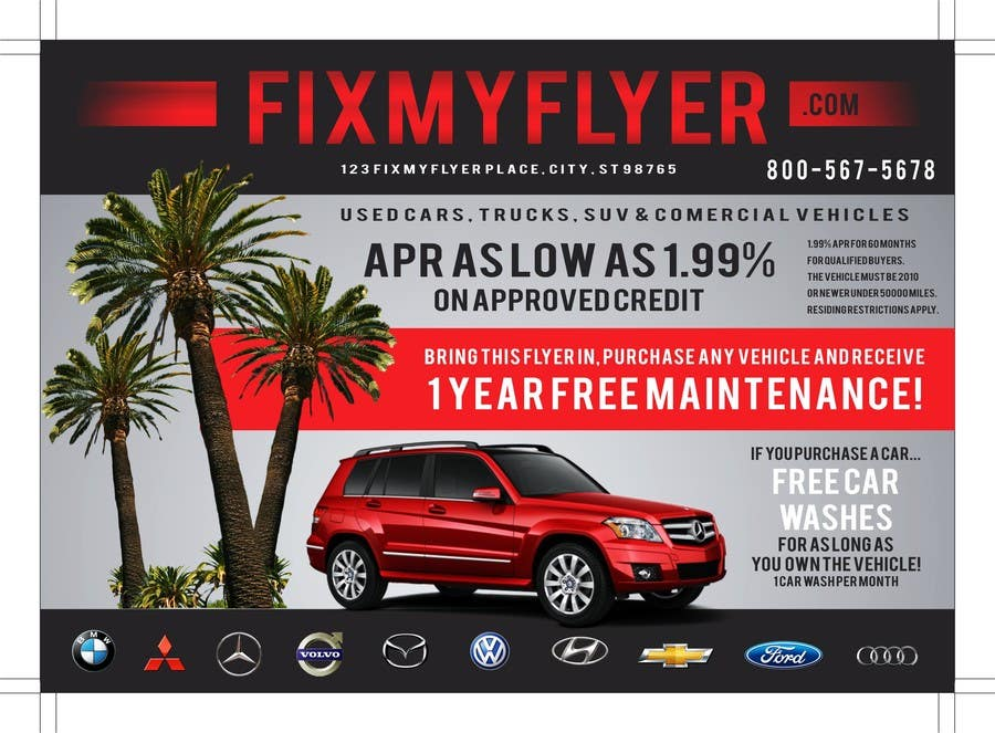#41 for Design a Flyer for Local Car Dealership by TATHAE