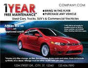 Contest Entry #8 for Design a Flyer for Local Car Dealership