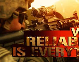 #34 untuk I Need a Main Image Designed for the Homepage of my Firearms Retail Website oleh clementalwin