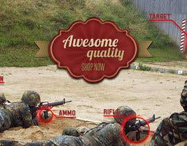 #2 untuk I Need a Main Image Designed for the Homepage of my Firearms Retail Website oleh AlecsDesign