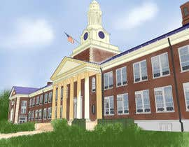 reginajessica96 tarafından Draw Colored Sketch The College of New Jersey Green Hall For Diploma Frame için no 23
