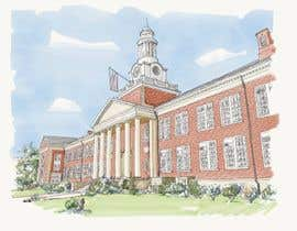 Perezacosta tarafından Draw Colored Sketch The College of New Jersey Green Hall For Diploma Frame için no 26