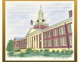 walter9nth tarafından Draw Colored Sketch The College of New Jersey Green Hall For Diploma Frame için no 19