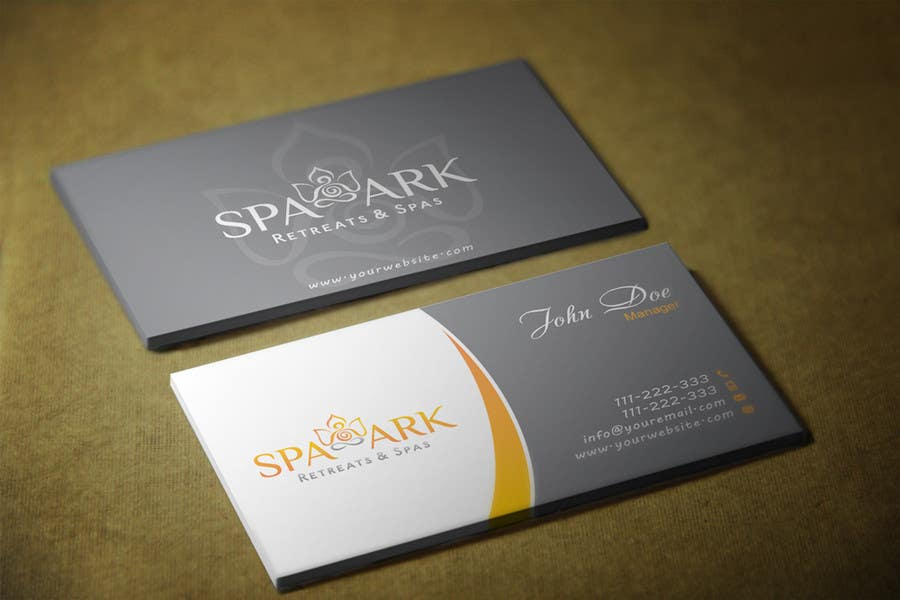 #34 for Design some Business Cards for Spa and Retreat Travel Agency by HammyHS