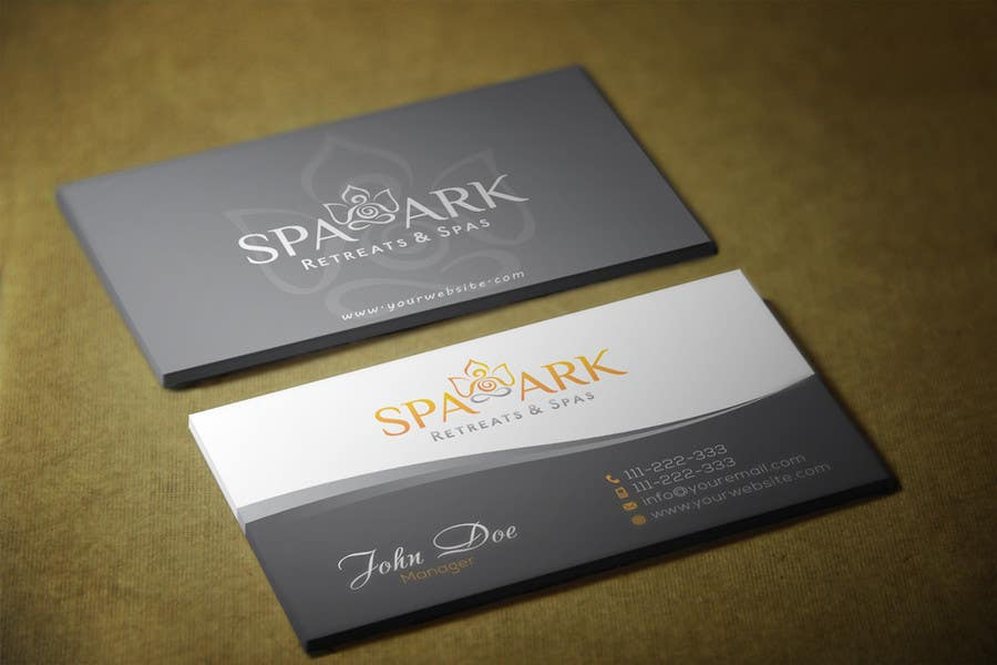 #37 for Design some Business Cards for Spa and Retreat Travel Agency by HammyHS