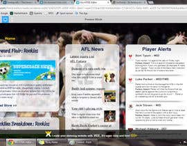 #6 for Design a Banner for Australian Football Supercoach News by tomatoisme