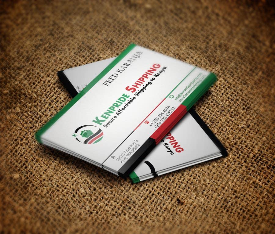 Penyertaan Peraduan #67 untuk Design some Business Cards for shipping company