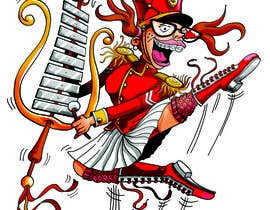 ecomoglio tarafından Illustrate a humorous, energetic marching band performer için no 43