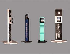 papaidada tarafından 3d modeling Ipad Information Point Display Stand için no 33