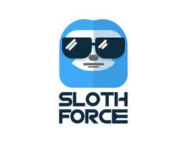 sofia230209 tarafından [Game Studio Logo] Sloth with aviator sunglasses with SLOTH FORCE written below için no 47
