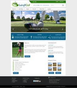 #15 for Design a Website Mockup for swingR golf by kreativeminds