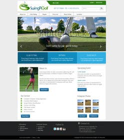 #16 para Design a Website Mockup for swingR golf por kreativeminds