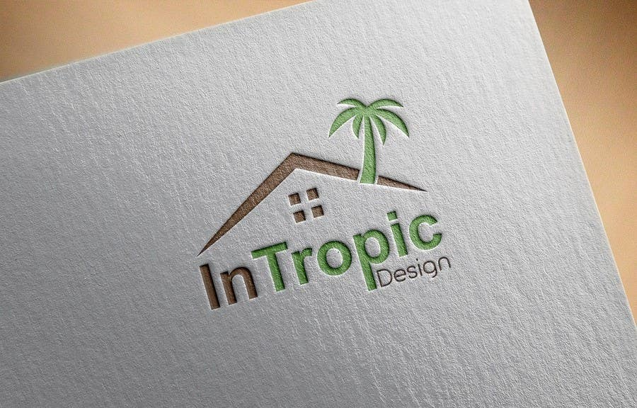 Contest Entry #132 for Design a logo for my start up interior design business InTropic & Entry #132 by IqbalArt for Design a logo for my start up interior ...