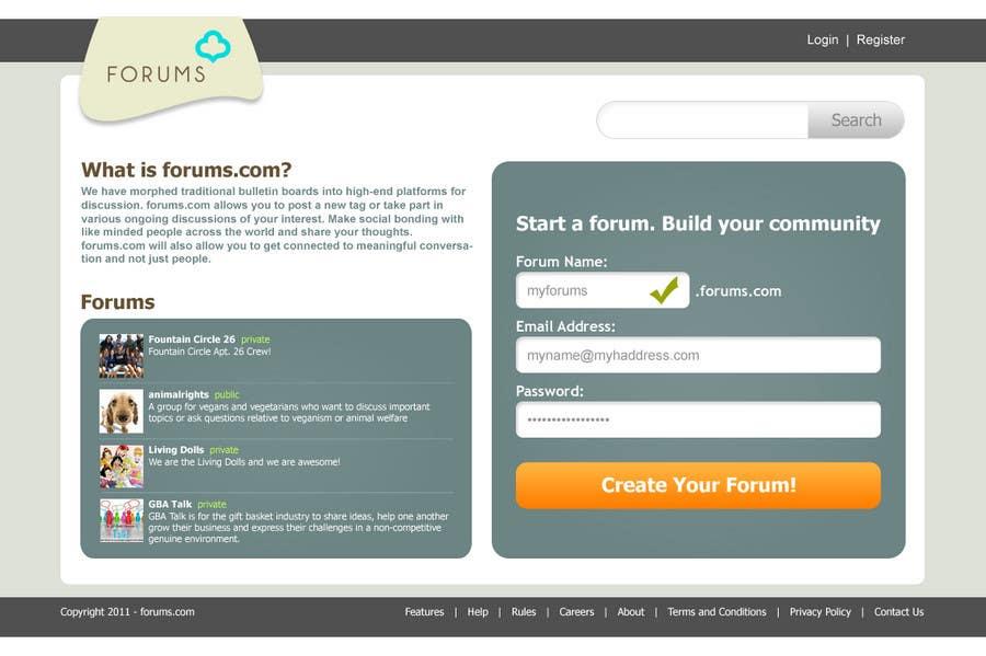 Inscrição nº                                         10                                      do Concurso para                                         Website Design for Forums.com