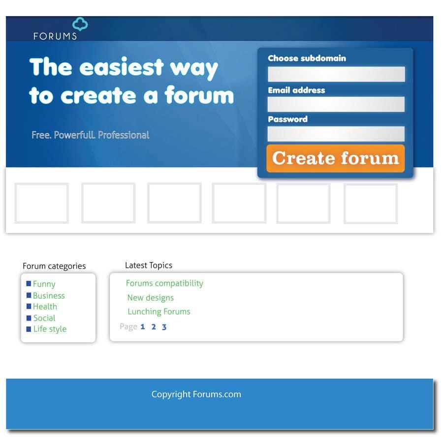 Participación en el concurso Nro.1 para Website Design for Forums.com