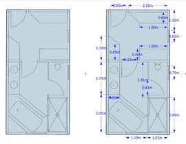 zeikemike tarafından Design a bathroom layout için no 5