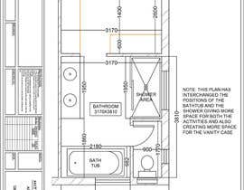 hiteshreddy1992 tarafından Design a bathroom layout için no 1