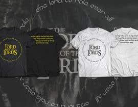 jeancastano tarafından Design a T-Shirt - The Lord of the Ring Style için no 43