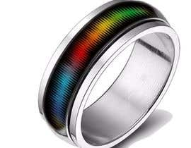#6 for Create a Rainbow EKG/wave Spinner Ring by kosevech