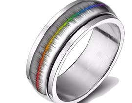 #32 for Create a Rainbow EKG/wave Spinner Ring by kosevech
