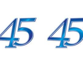#14 for Logo design for the 45th anniversary banquet af Raoulgc