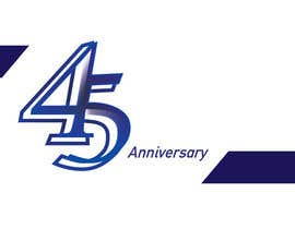 #27 para Logo design for the 45th anniversary banquet por gridis