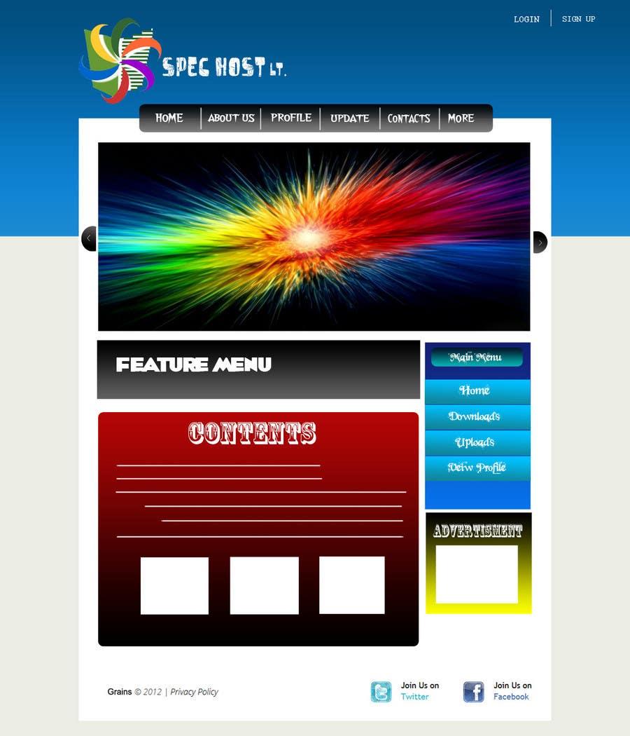 Contest Entry #                                        3                                      for                                         Website Design for Spec Host LTD