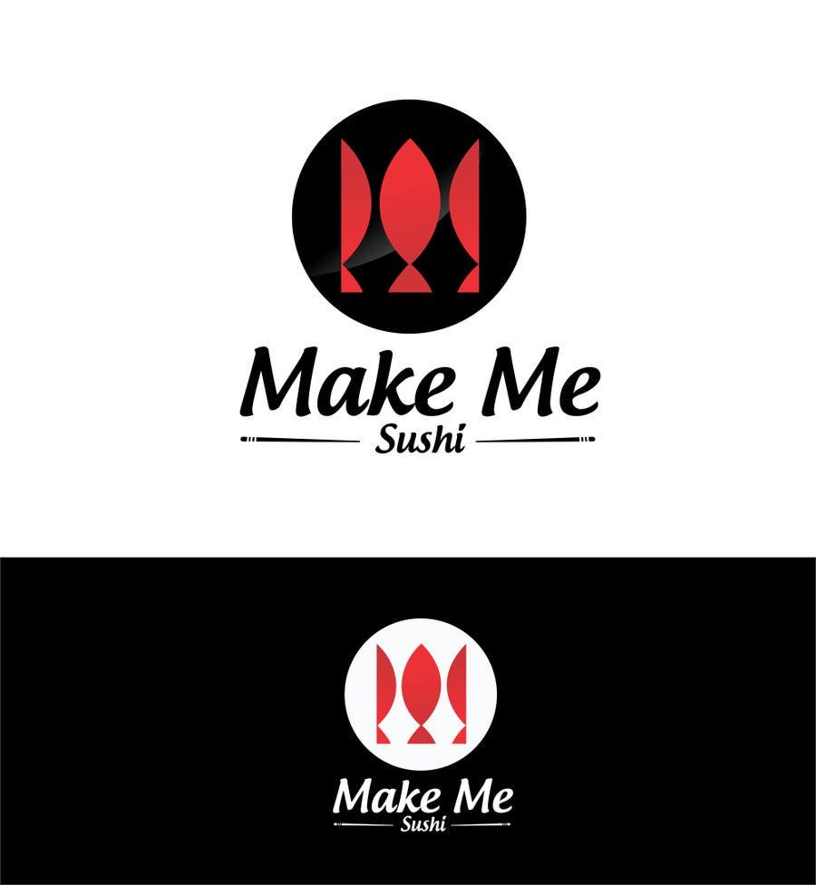 "Contest Entry #45 for Design a Logo for 'MAKE ME SUSHI"" - repost"