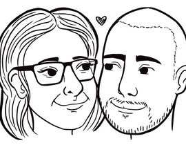 #17 for Cartoonize Two Faces (B/W, Vector Graphic, Low Detail) by crisshadesign