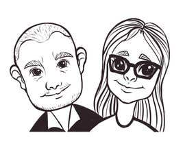#28 for Cartoonize Two Faces (B/W, Vector Graphic, Low Detail) by nugrahanugraha