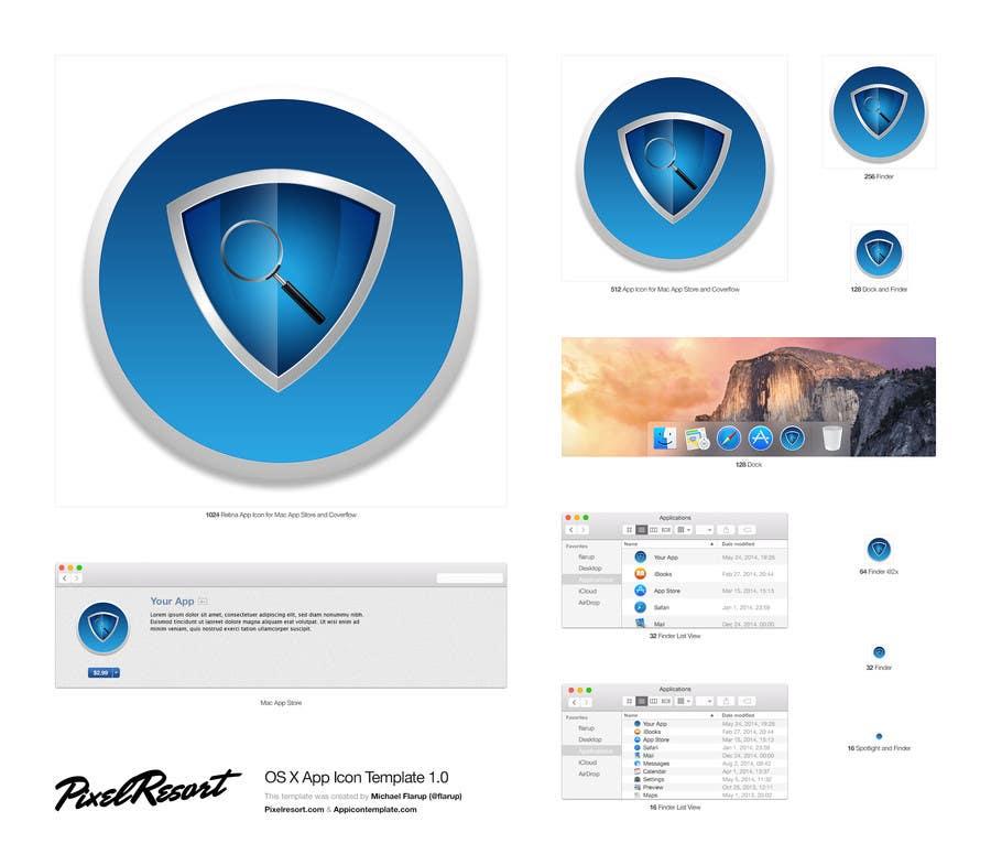 Entry #545 by designkolektiv for Antivirus Mac App Icon