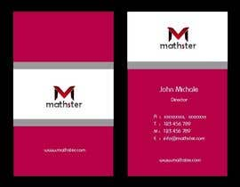 #28 untuk Design some Business Cards for Mathster.com oleh mogharitesh