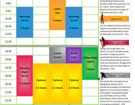 #16 for Editable Adult Class Timetable by Grasor