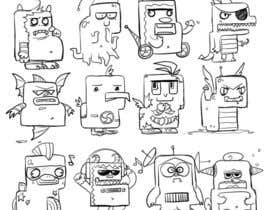 nº 11 pour Funny Monster Robot Illustrations Wanted par BunnyPopcorn
