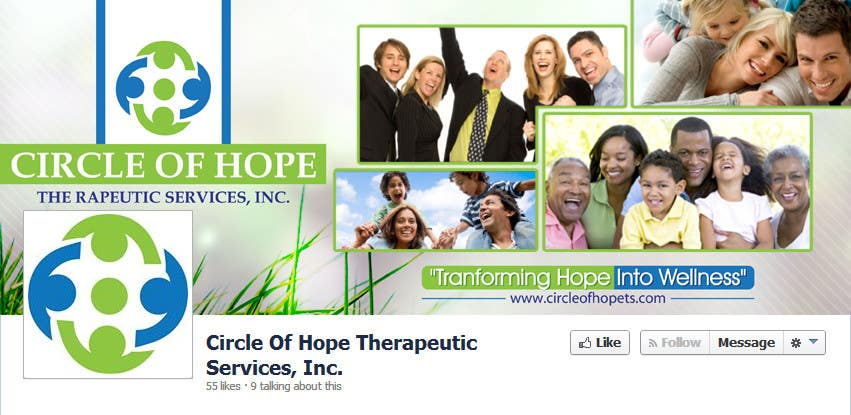 Proposition n°32 du concours Design a Facebook landing page for Circle of Hope Therapeutic Services, Inc.