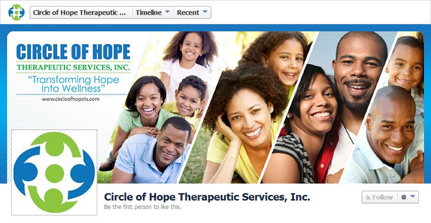 Proposition n°39 du concours Design a Facebook landing page for Circle of Hope Therapeutic Services, Inc.