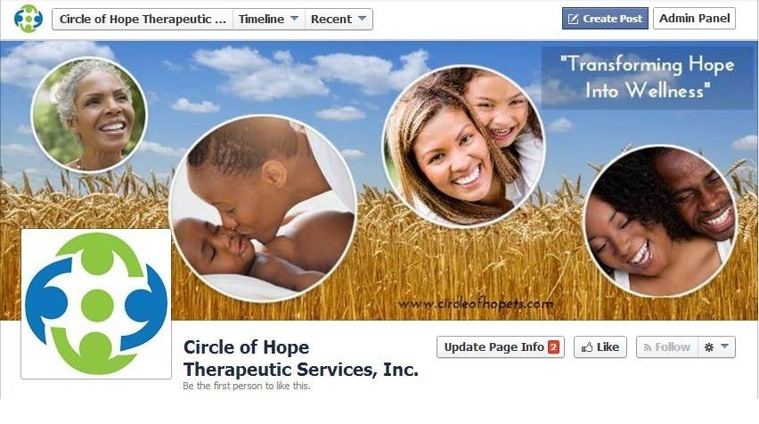 Proposition n°24 du concours Design a Facebook landing page for Circle of Hope Therapeutic Services, Inc.