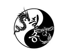 #22 for I need some Graphic Design for a Dragon & a Phoenix wrapping the outside of a Yin-Yang pattern and the Korean characters for Victory in the middle af burhandesign