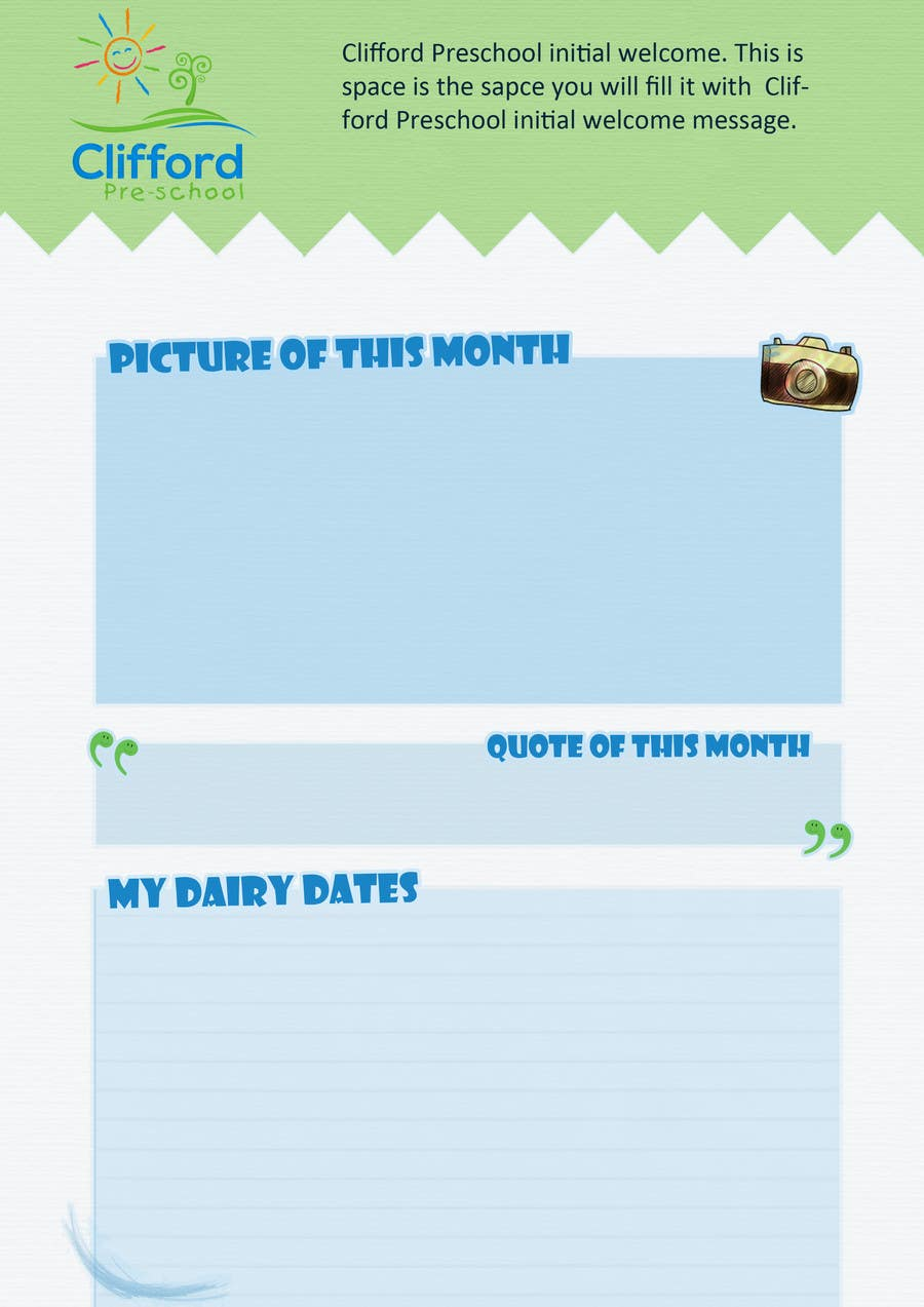 Entry 4 by ahmedmo3awad for design a nursery newsletter template contest entry 4 for design a nursery newsletter template email friendly maxwellsz
