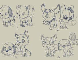 nº 18 pour Concept art for a virtual pet game: kitten and puppy par Milos009